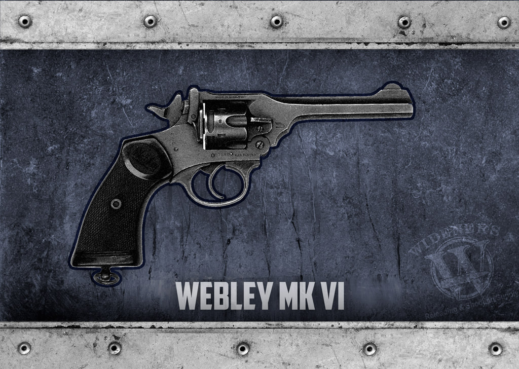 a photo of Webley Mk VI Revolver guns of 1917