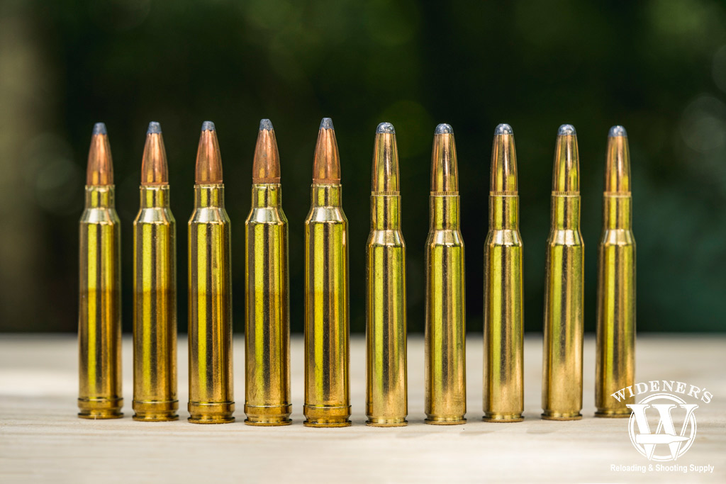 A photo comparing Sellier & Bellot 30-06 ammo VS Sellier & Bellot 300 win mag ammo