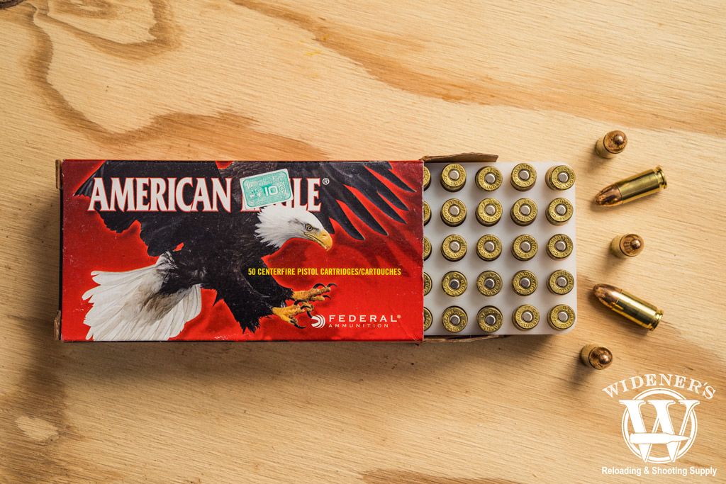 photo of federal american eagle 9mm ammo
