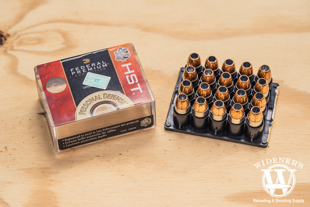 photo of federal best 45 acp ammo hst jhp