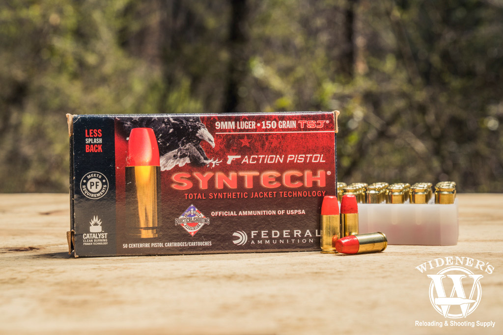 photo of 9mm federal syntech ammo outdoors