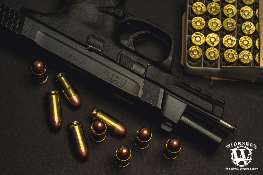 a photo of the smith & wesson m&p handgun in 45 acp