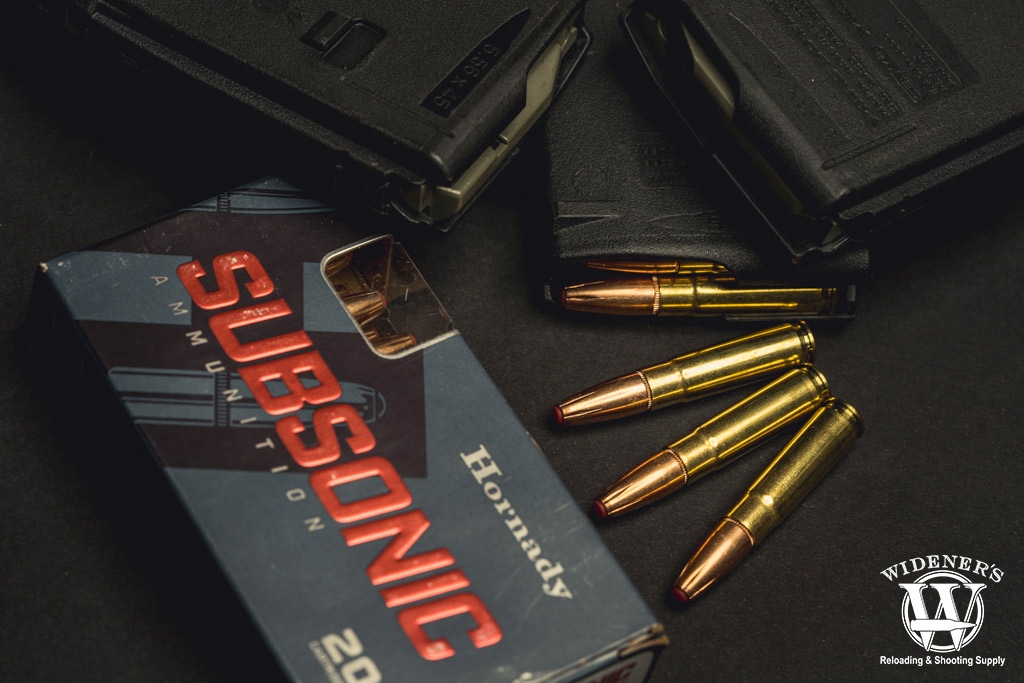 a photo of the subsonic hornady 300 blackout ammo