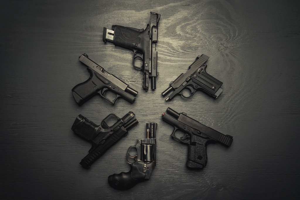 a photo showing options for best handgun for small hands