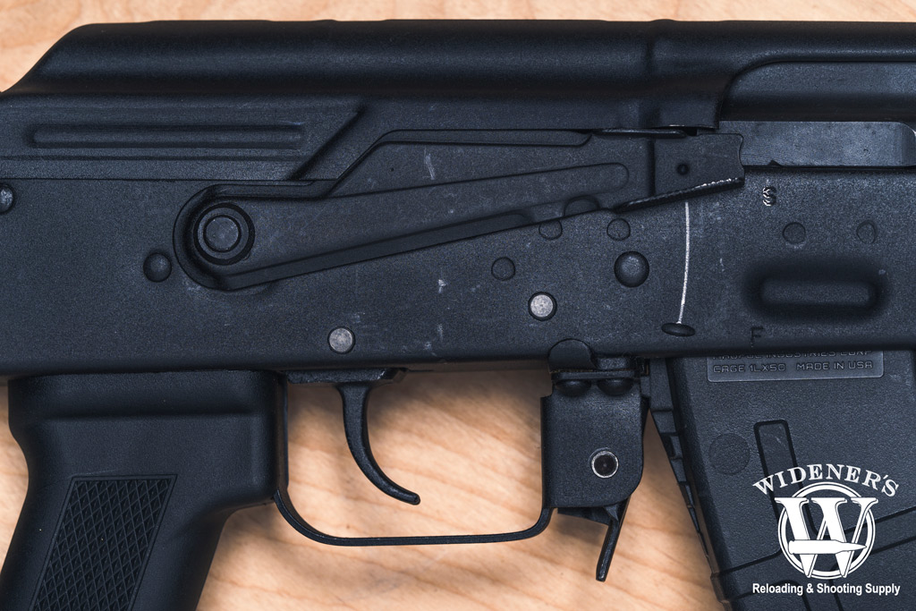 photo of an ak47 receiver and safety switch