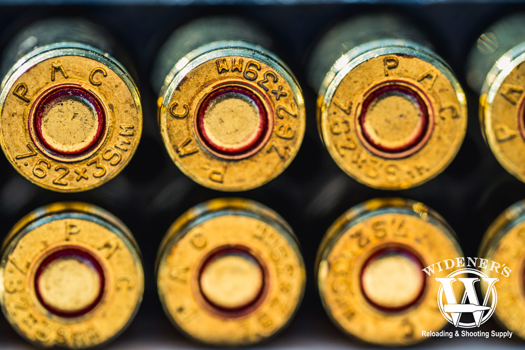 photo of the detail on an 7.62x39 cartridge