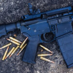 photo of an ar-15 rifle outdoors