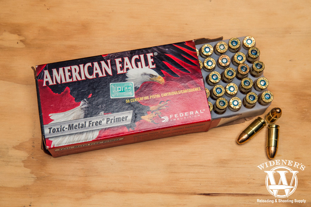 photo of federal american eagle tmj 9mm competition ammo