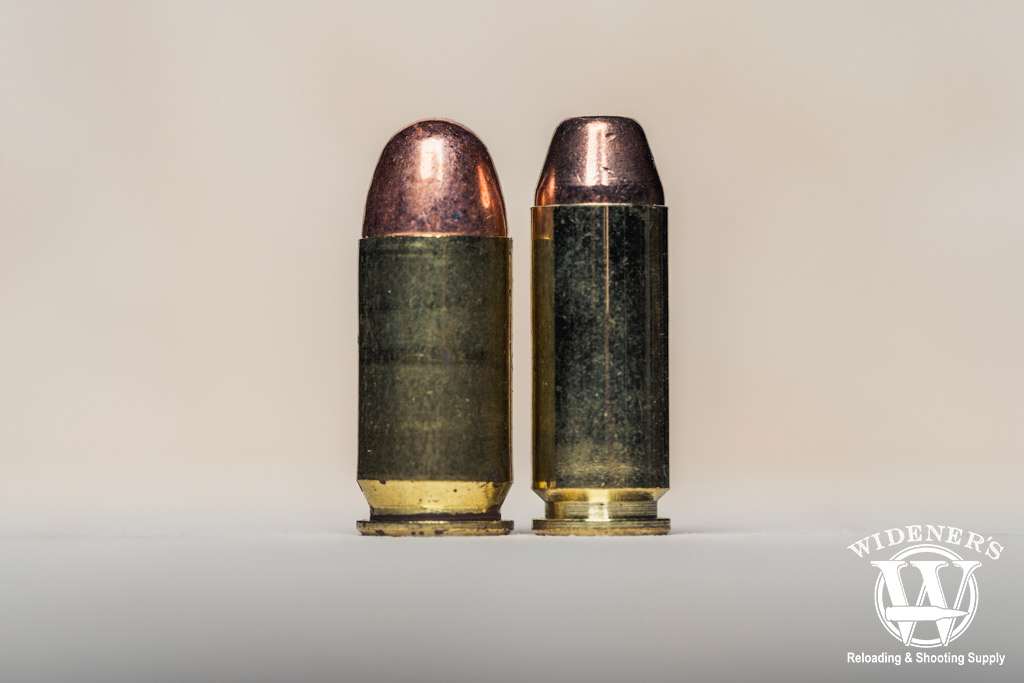 a photo comparing the 45 ACP VS 10mm