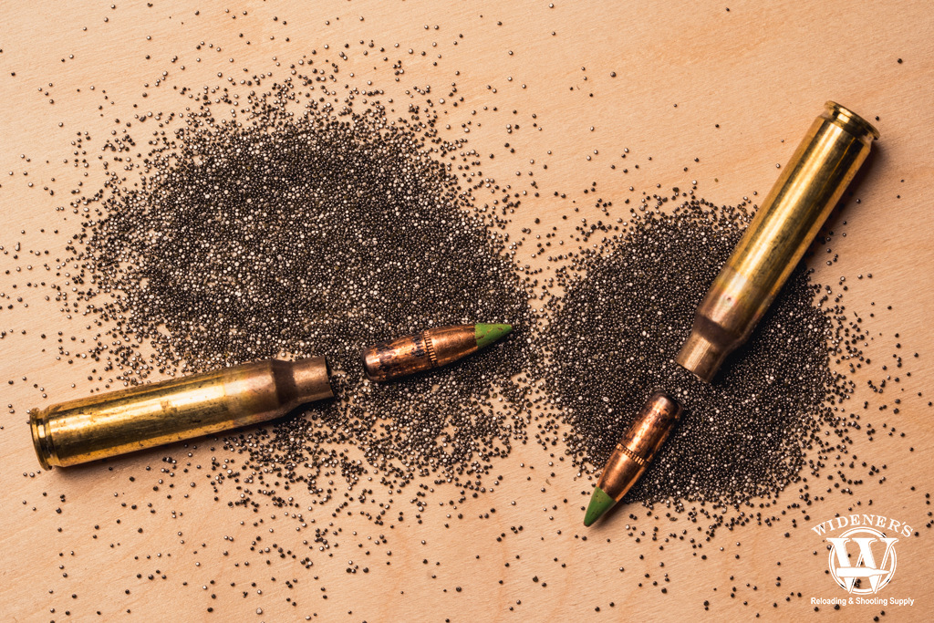 a photo of bullets and gunpowder in the history of ammo
