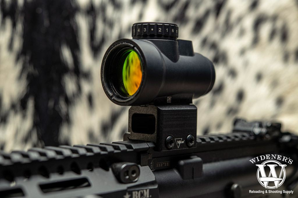 a photo of a trijicon MRO rifle optics