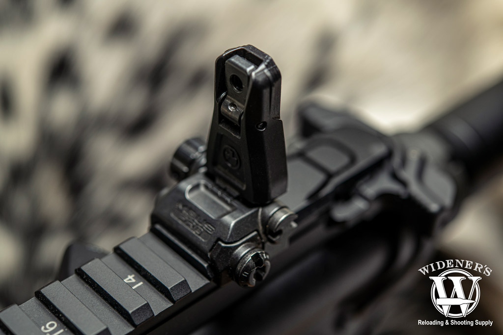 a photo of iron sight rifle optics
