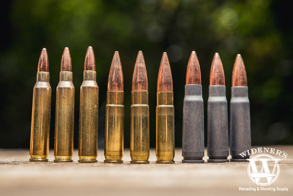 a photo comparing different bullet types