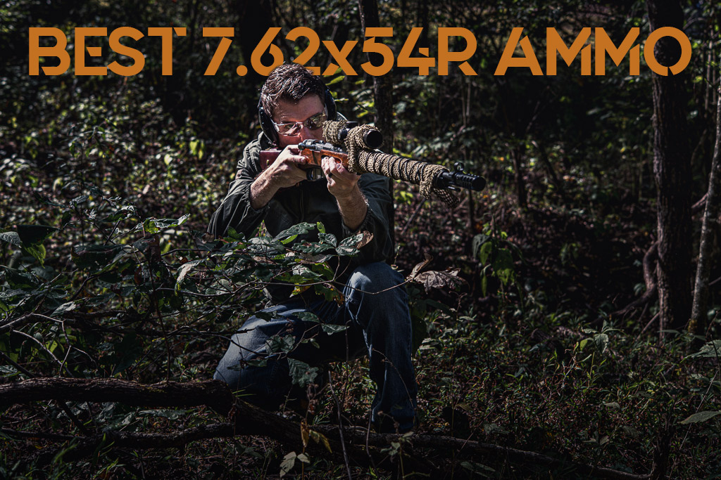 a photo of a man shooting the best mosin nagant ammo outdoors
