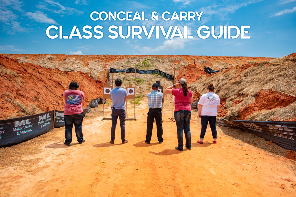 a photo of a conceal and carry class outdoors
