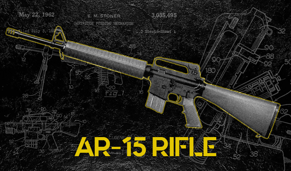 a photo of the ar15 rifle
