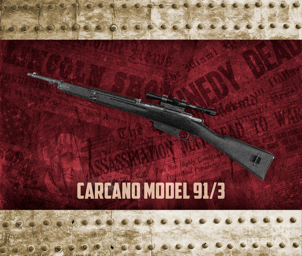a photo of Carcano Model 91/3 Italian infantry rifle used in the Kennedy assassination