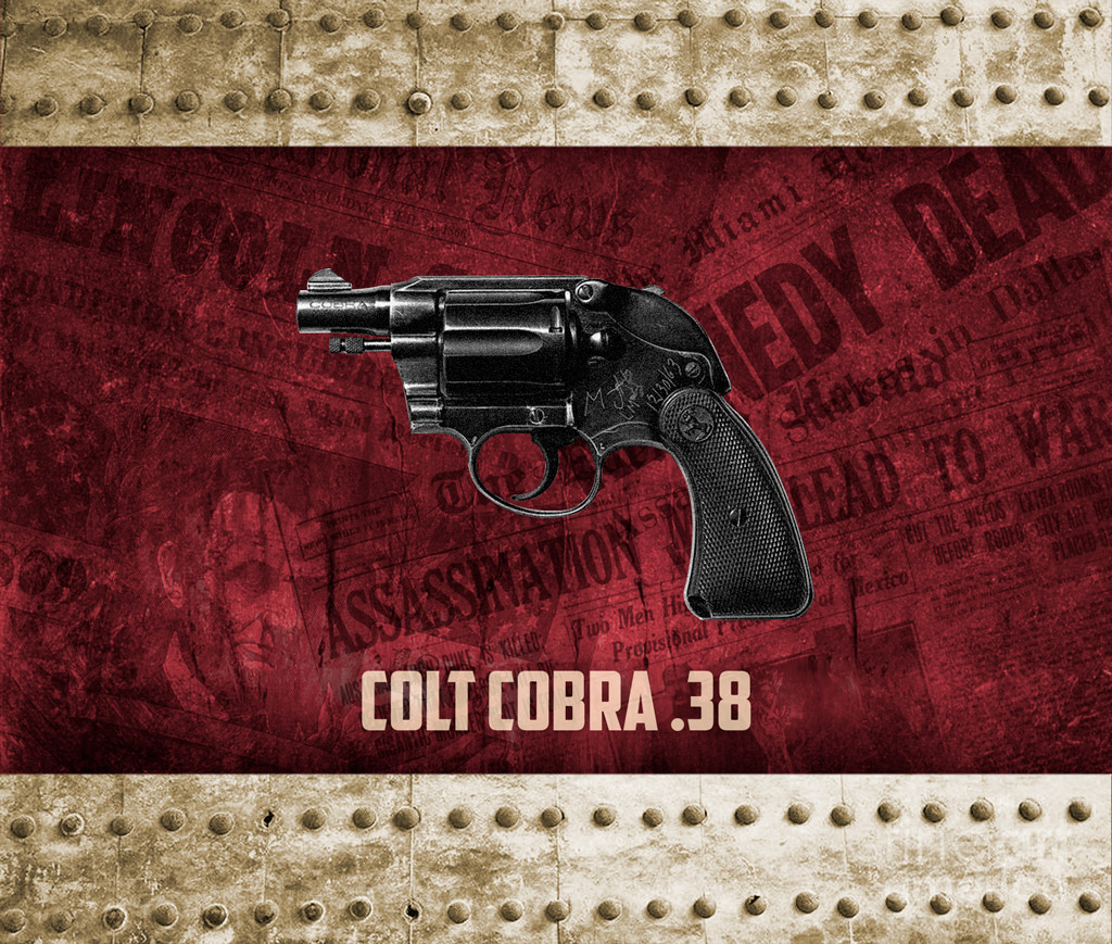 a photo of jack ruby's colt cobra revolver used in famous assassinations
