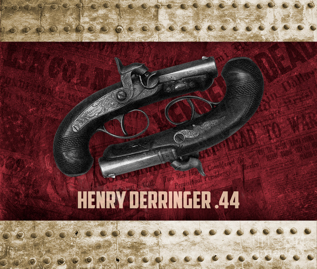 a photo of the henry derringer gun used in famous assassinations