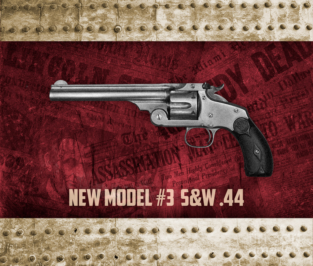a photo of New Model No. 3 single-action .44 caliber Smith & Wesson revolver used to kill jesse james famous assassinations