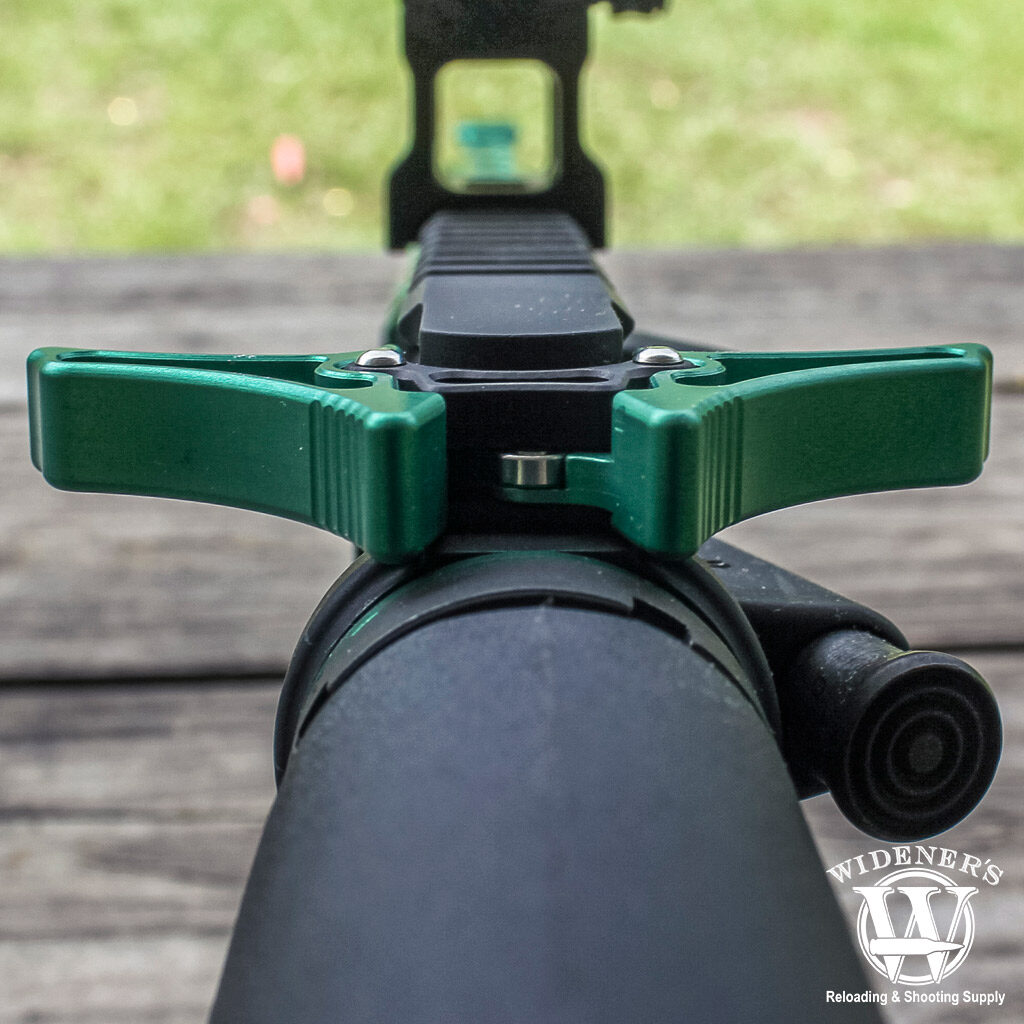 a photo of an ambidextrous charging handle