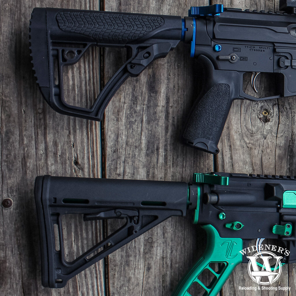 a photo of a pair of AR-15 butt stocks