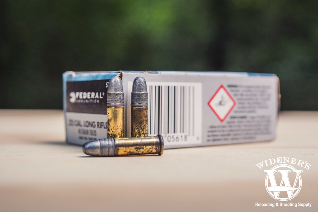 photo of federal .22 LR ammo sitting outside