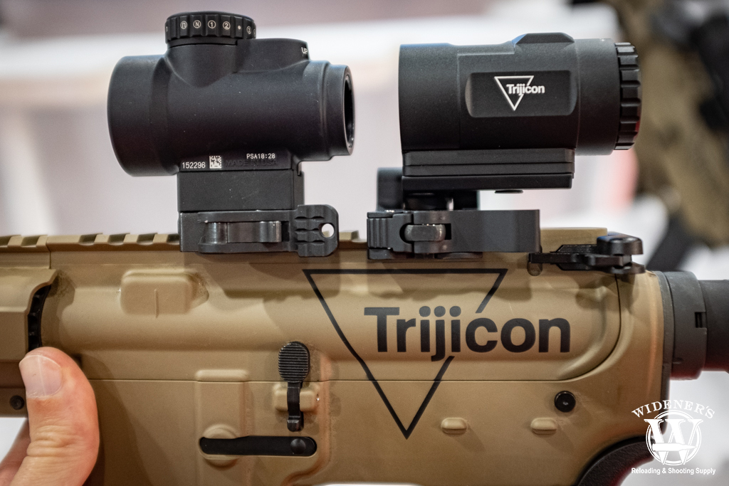 photo of the new Trijicon MRO HD and the MRO HD 3X Magnifier
