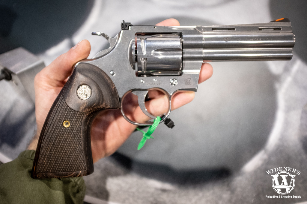 a photo of the new colt python revolver chambered in 357 magnum