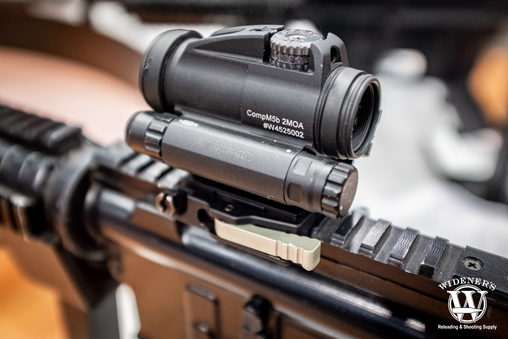 photo of the Aimpoint CompM5b red dot optic