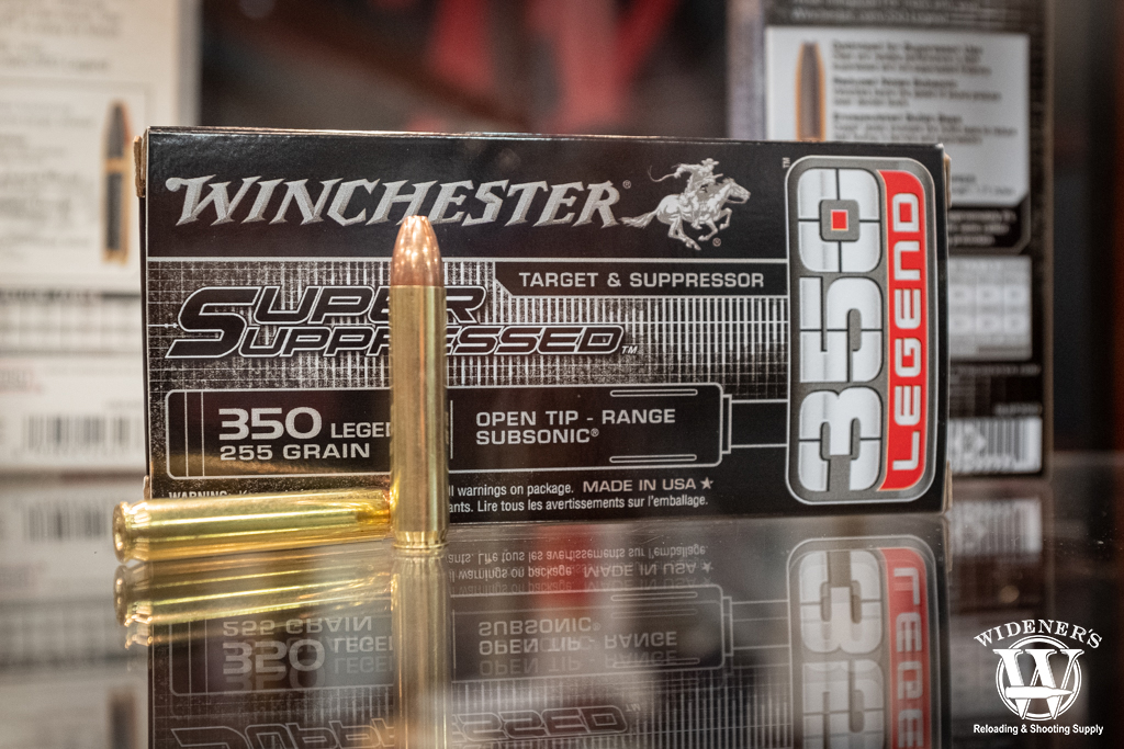 a photo of winchester 350 legend super suppressed ammo shot show 2020 report