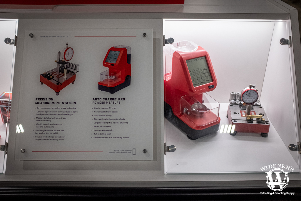 a photo of the Hornady Auto Charge Pro and Precision Measurement Station at shot show 2020
