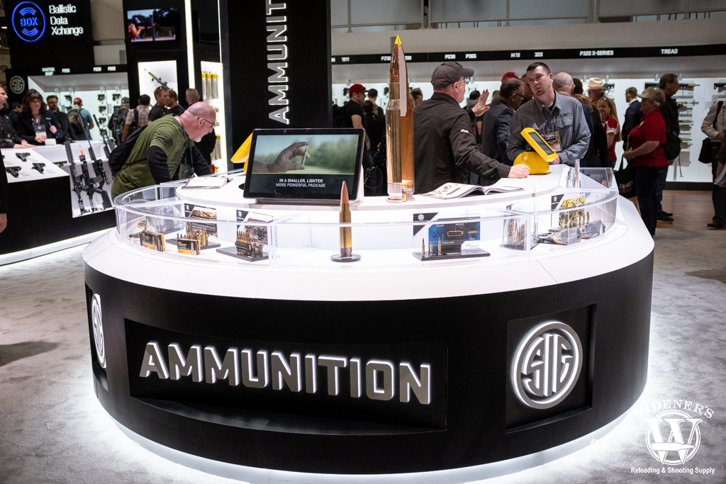 a photo of the sig sauer ammunition booth at shot show 2020