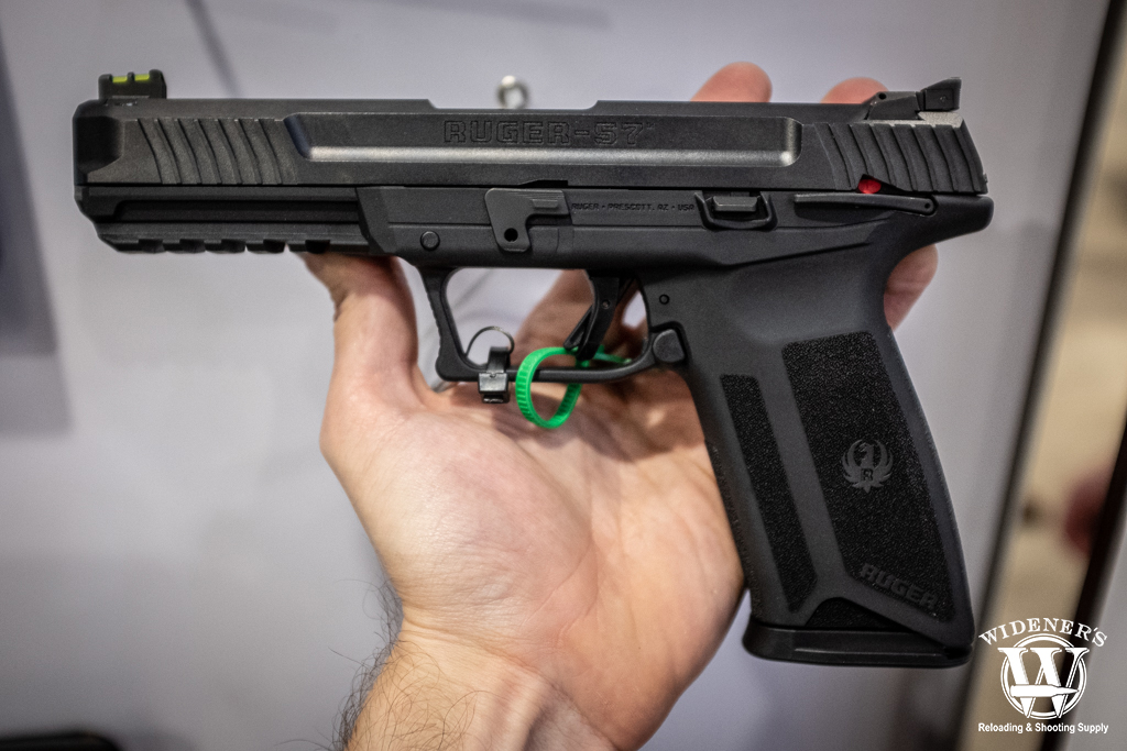 a photo of the ruger 57 pistol, chambered in 57x28mm shot show 2020