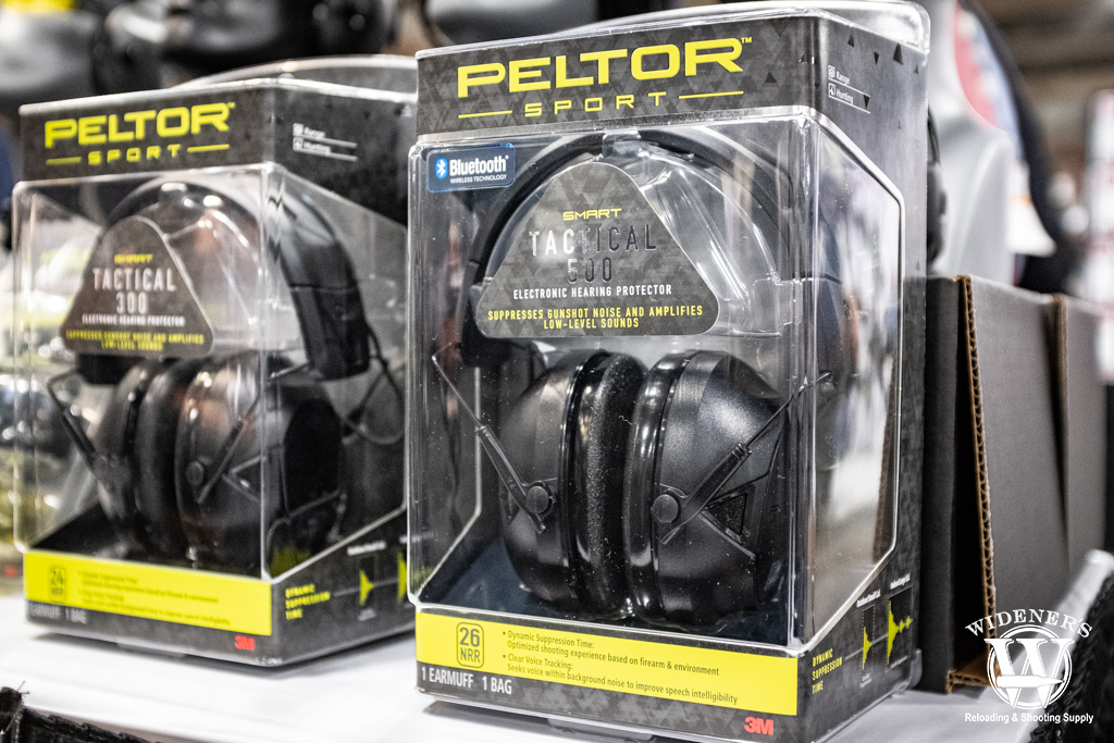 photo of the peltor sport tactical 500 ear muffs at shot show 2020