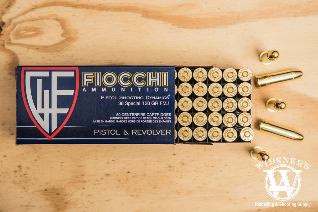 photo of fiocchi best 38 special ammo on plywood