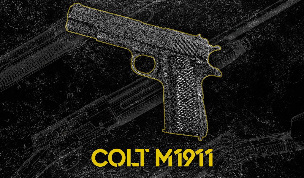 photo of the colt 1911 designed by john moses browning