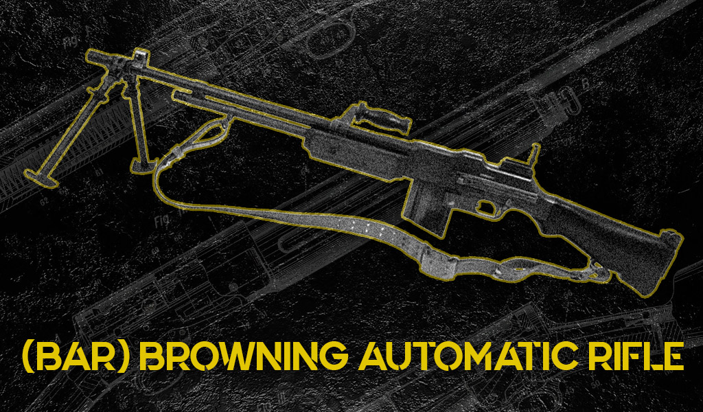 photo of browning automatic rifle aka bar machine gun