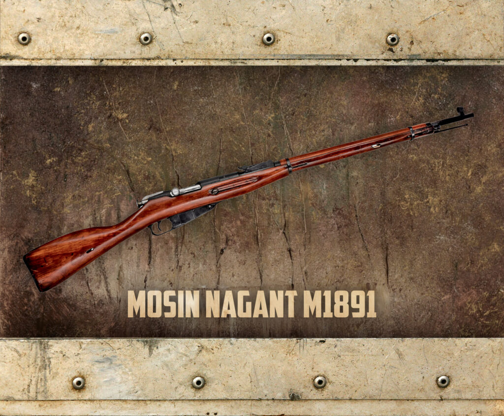 a graphic of the mosin nagant m91 rifle