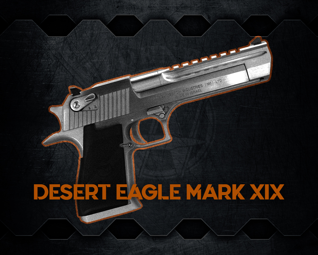 a photo of the Desert Eagle Mark XIX most powerful handguns