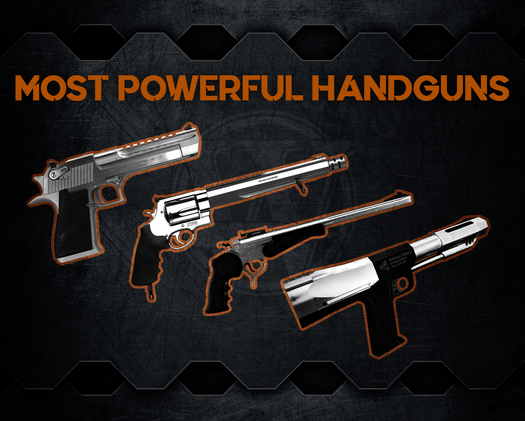 photo of world's most powerful handguns