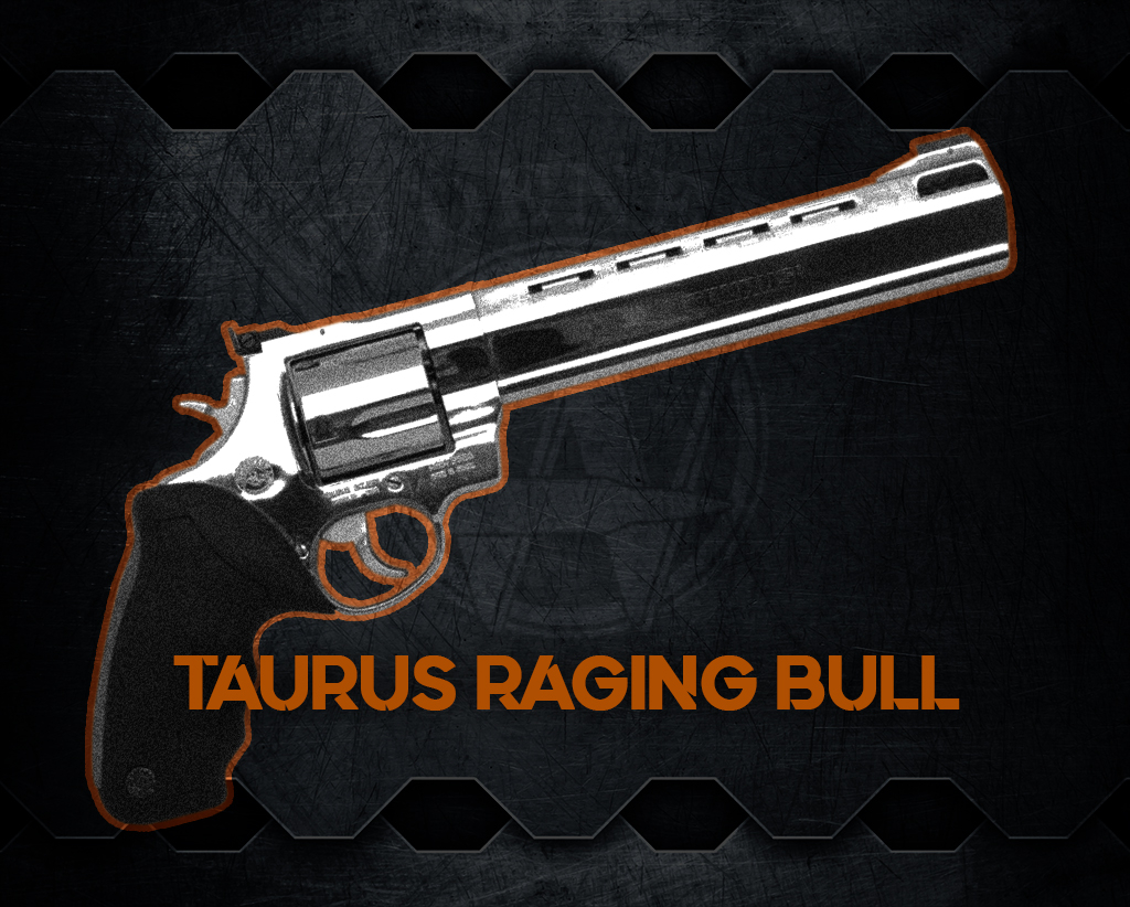 a photo of one of the world's most powerful handguns, the Taurus Raging Bull handgun