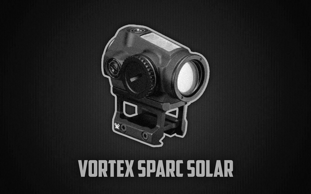 a photo of the vortex spark solar red dot optic