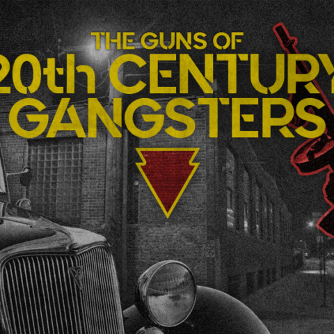 a photo of the guns of 20th century gangsters