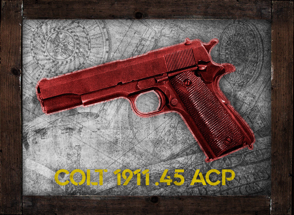 a photo of colt 1911 45 acp babyface nelson gangster guns
