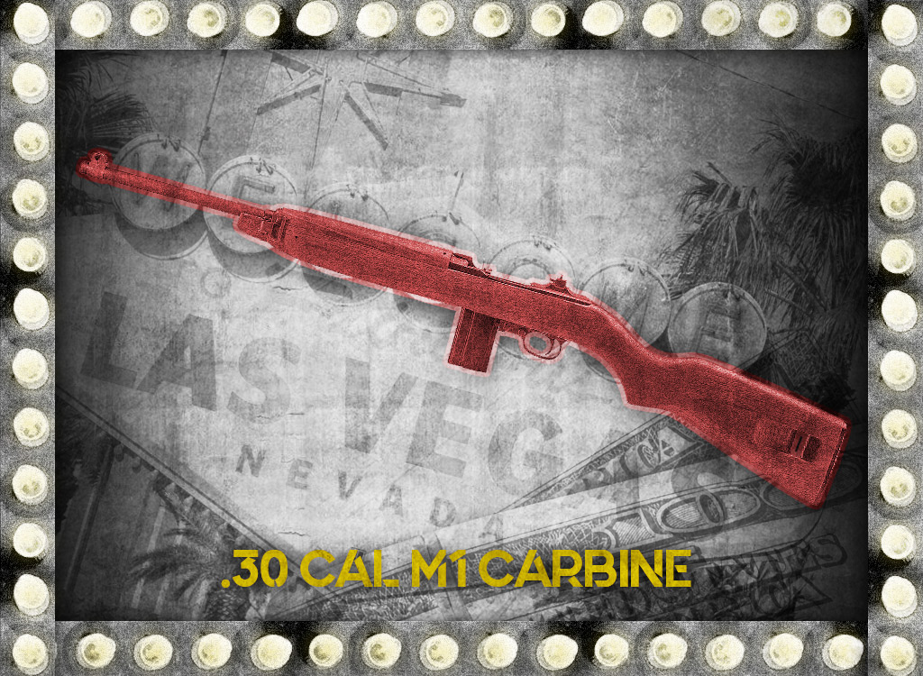 photo of 30 cal m1 carbine rifle bugsy siegel gun
