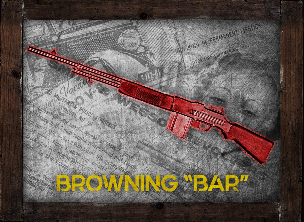 a photo of a browning bar rifle guns of bonnie and clyde