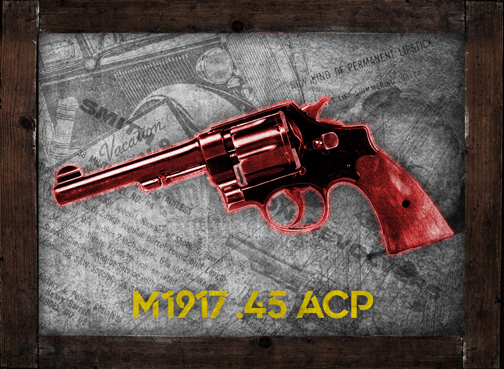 a photo of m1917 pistol in 45 acp