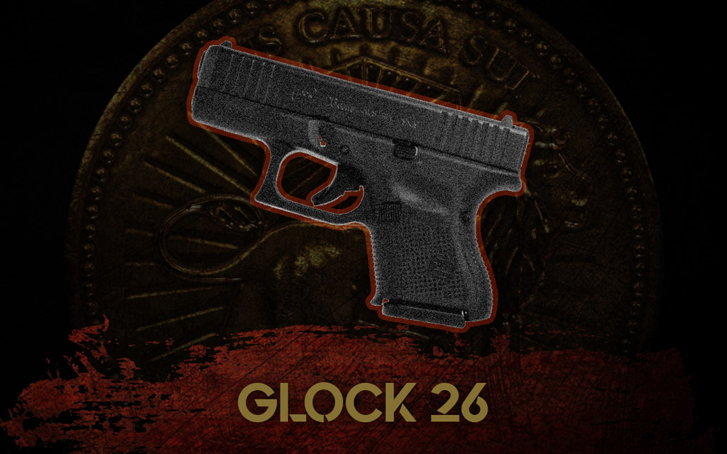 a photo of the glock 26 pistol
