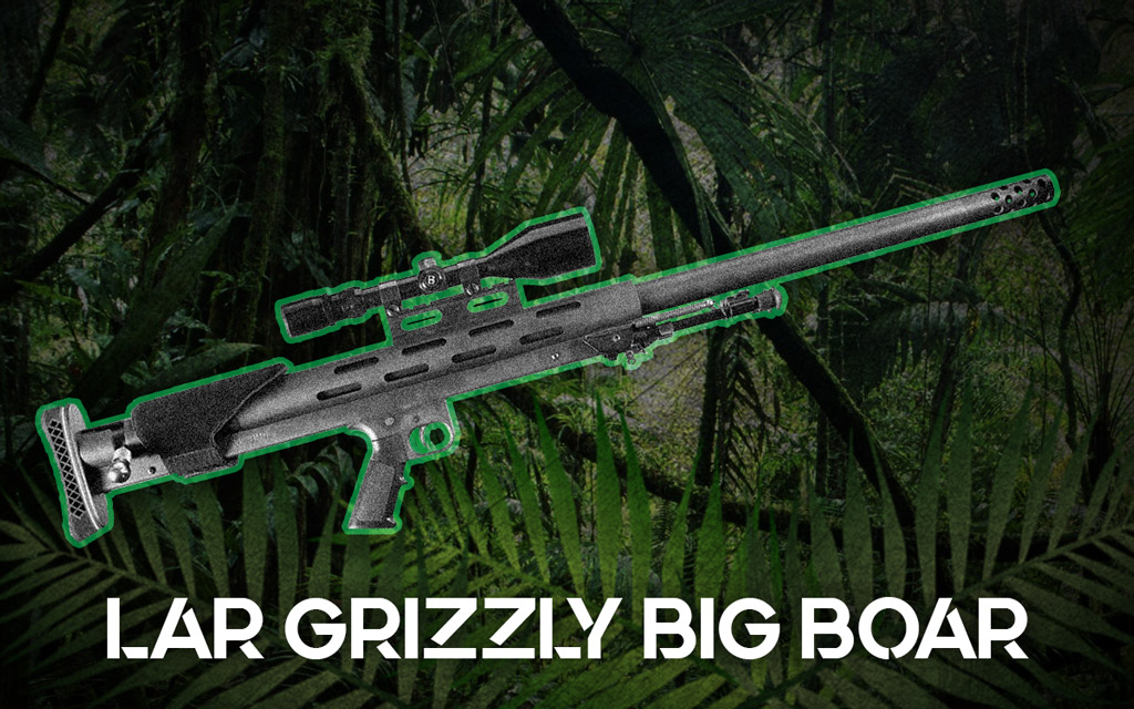 a photo of the LAR Grizzly Big Boar rifle